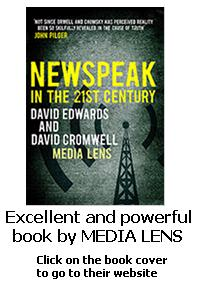My perception of Media Lens: Watching the corrupt corporate media, documenting and analysing how it bends our minds. Their book, 'Newspeak' is a gem.