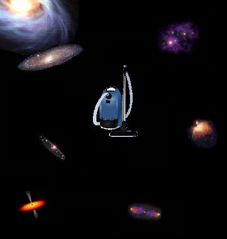 Vacuum Cleaner In Space