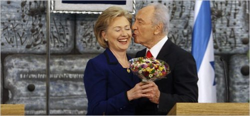 hitlery-clinton-being-kissed-by-shimong-peres-and-enjoying-it