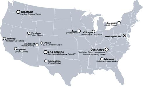 us-nuclear-sites-manhattan-project