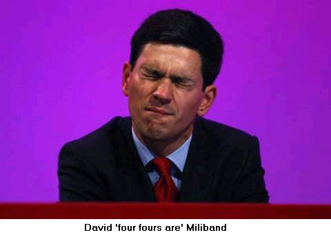 David 'four fours are' Miliband