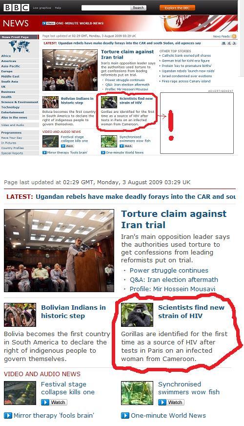 HIV source according to BBC