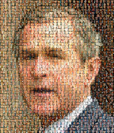 Mural of bush from some of his US victims