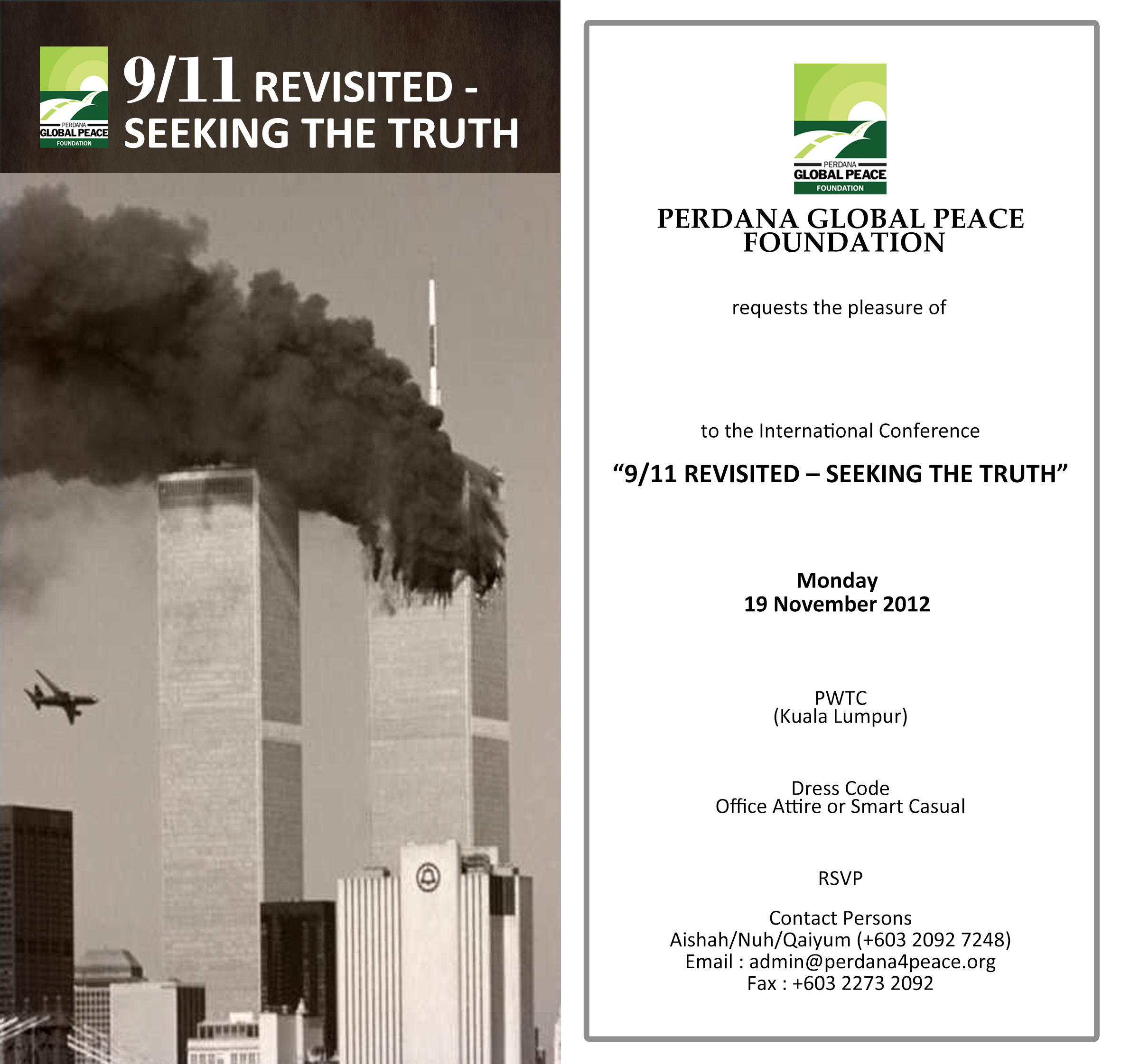 International Conference 9/11 Revisited – Seeking The ...